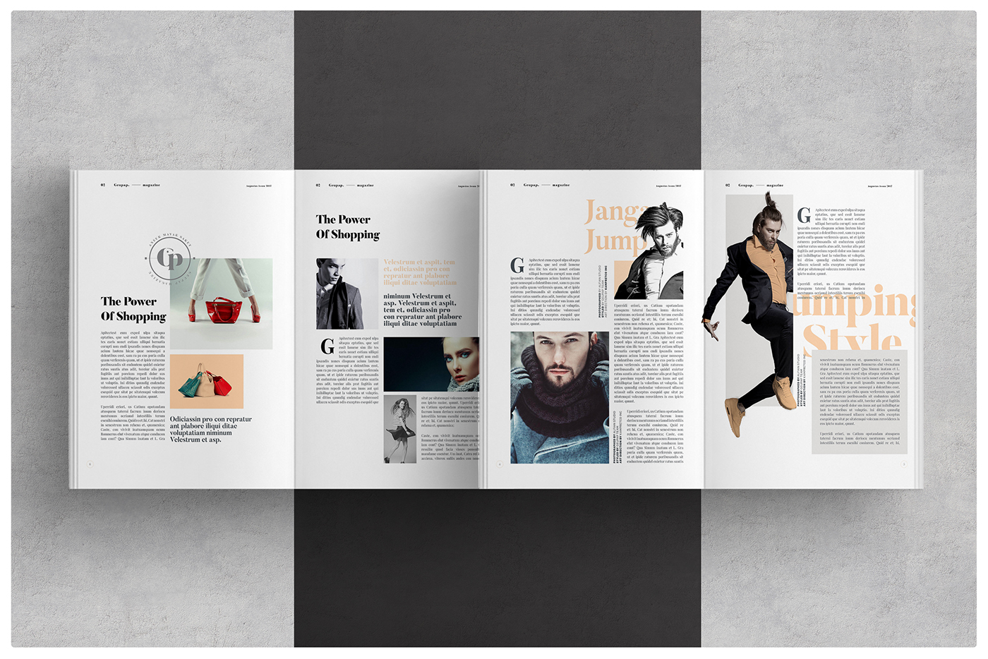 Magazines layout